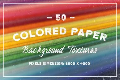 50 Original Colored Paper Background Textures