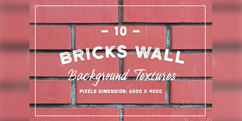10 Bricks Wall Background Textures
