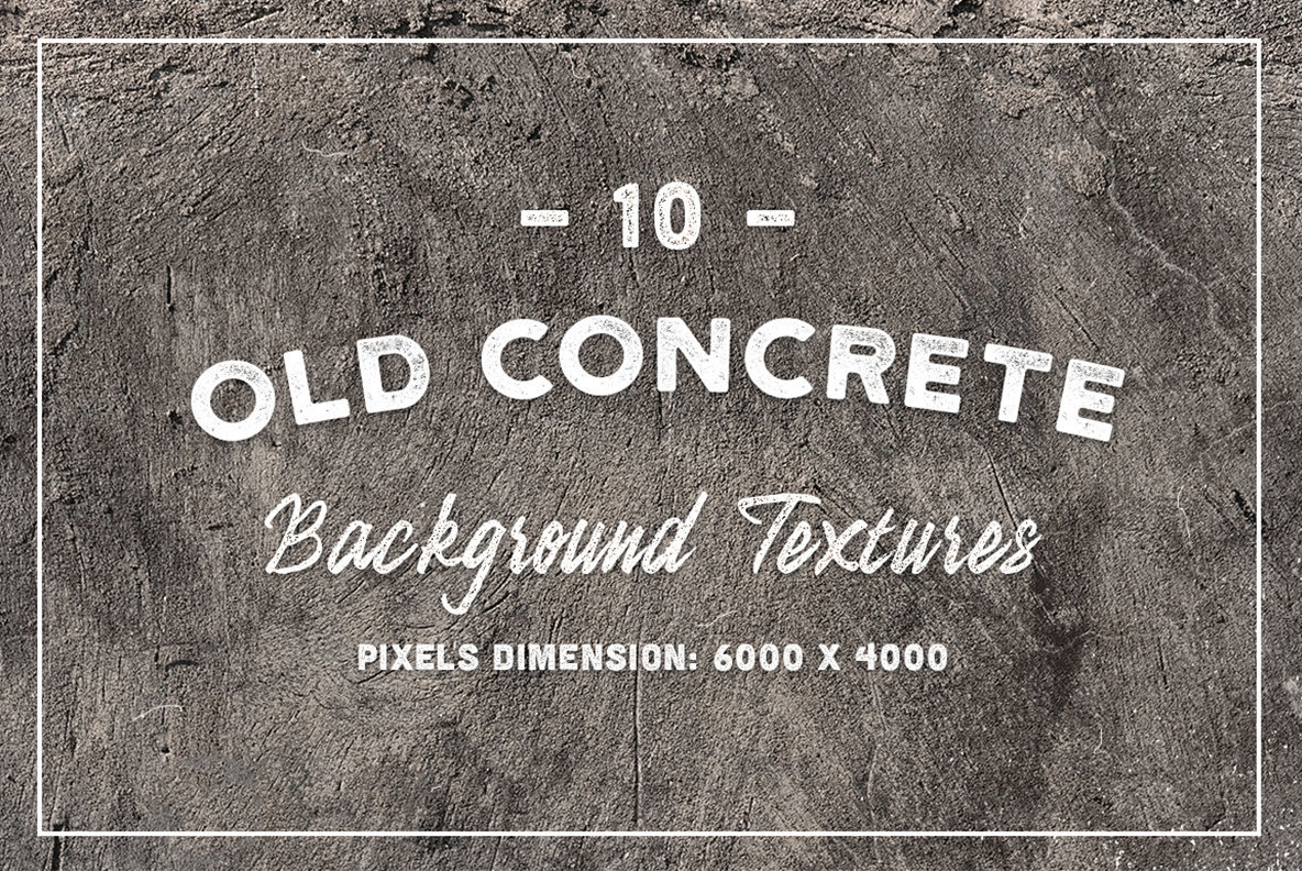10 Old Concrete Background Textures