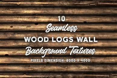 10 Wood Logs Wall Background Texture