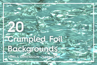 20 Crumpled Foil Background Textures
