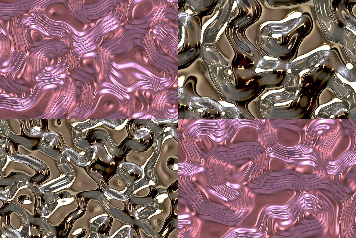 20 Liquid Metal Background Textures