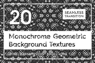 20 Monochrome Geometric Backgrounds