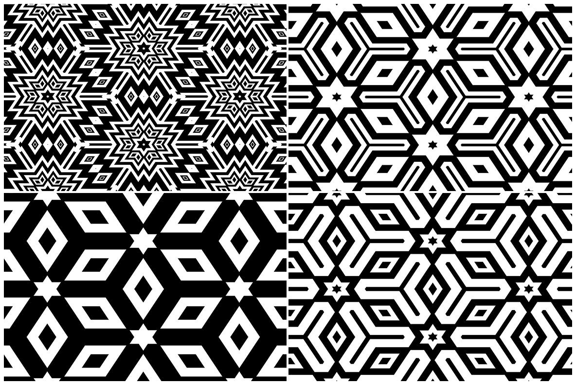 20 Monochrome Geometric Backgrounds