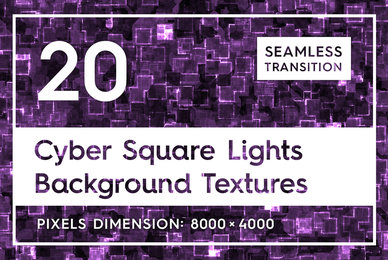 20 Cyber Square Lights Backgrounds