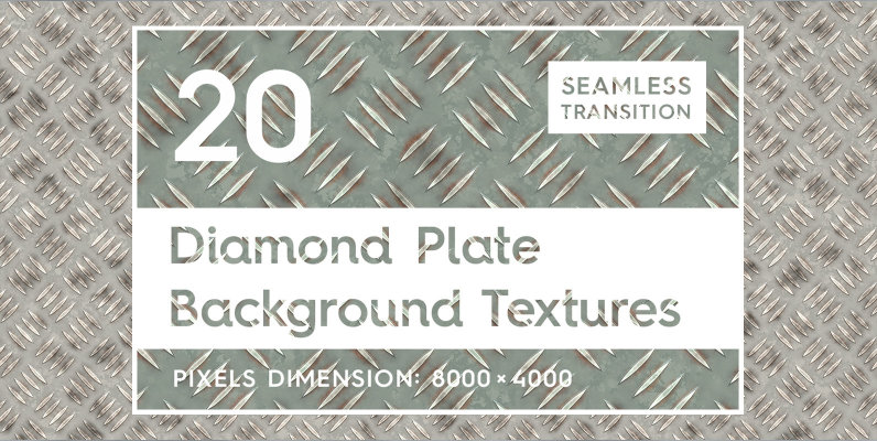 20 Diamond Plate Background Textures