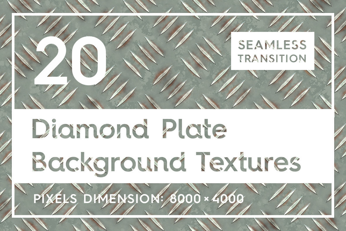 20 Diamond Plate Background Textures