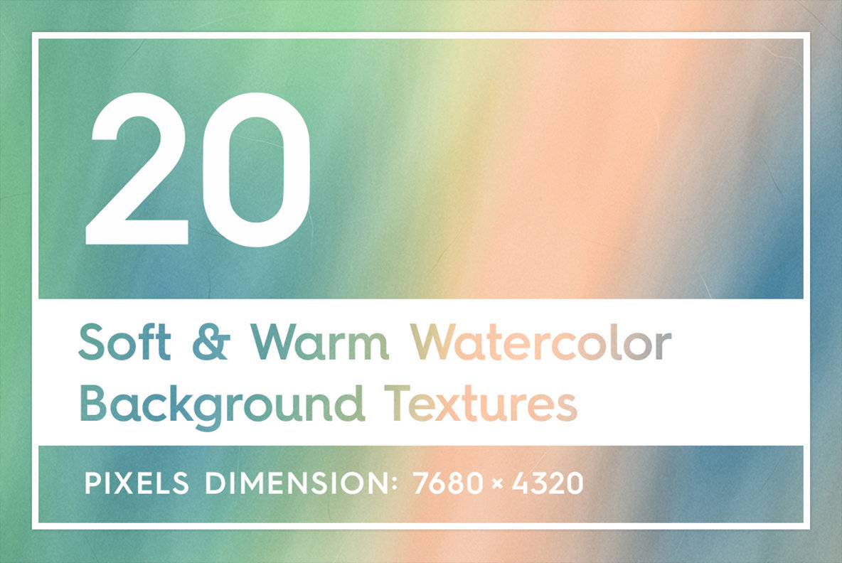 20 Soft   Warm Watercolor Backgrounds