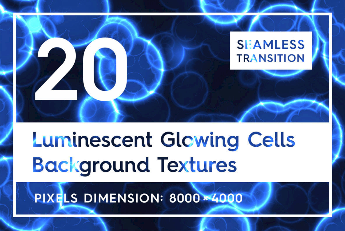 20 Luminescent Glowing Cells Background Textures