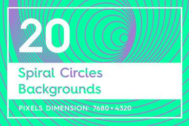 20 Spiral Circles Backgrounds