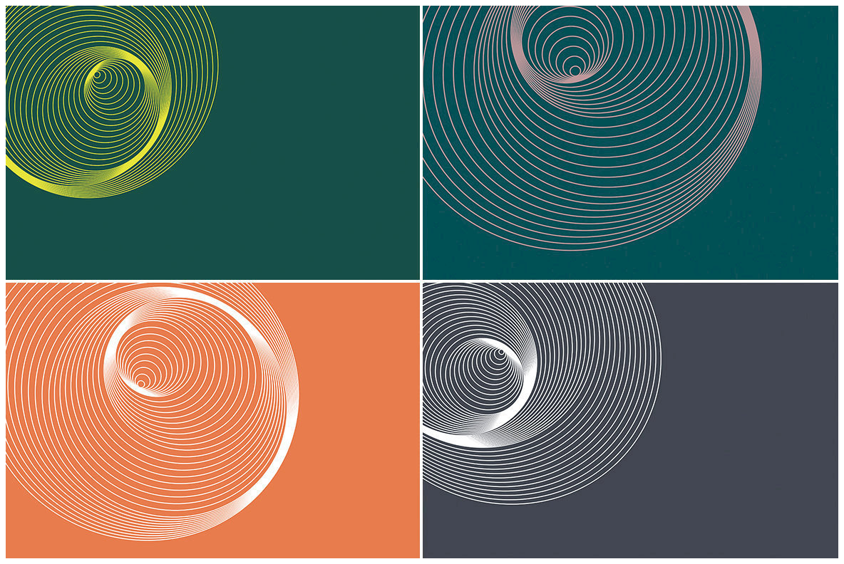 20 Spiral Circles Backgrounds
