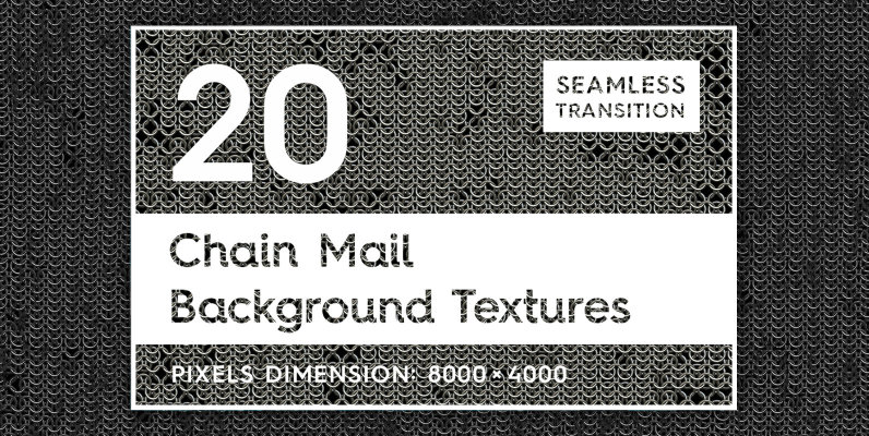 20 Chain Mail Background Textures