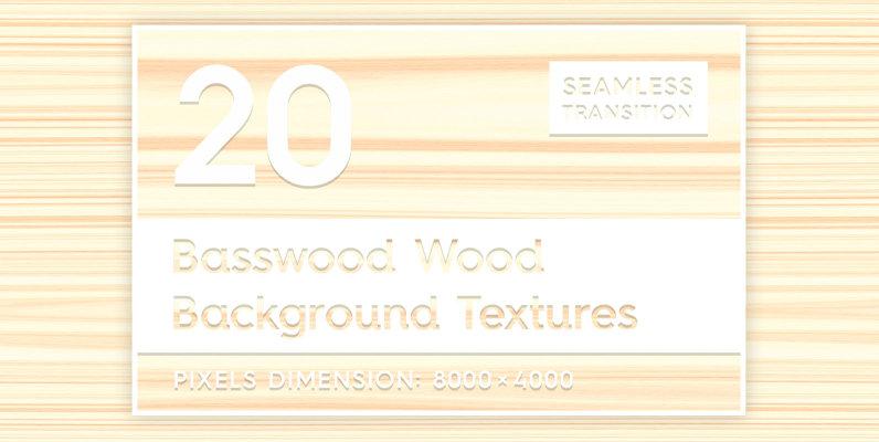 20 Basswood Wood Background Textures