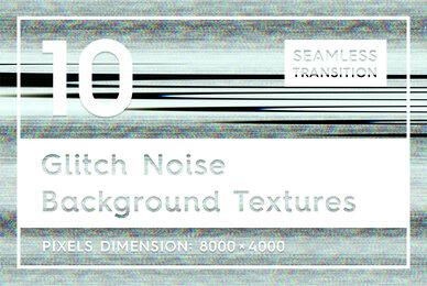 10 Glitch Noise Background Textures