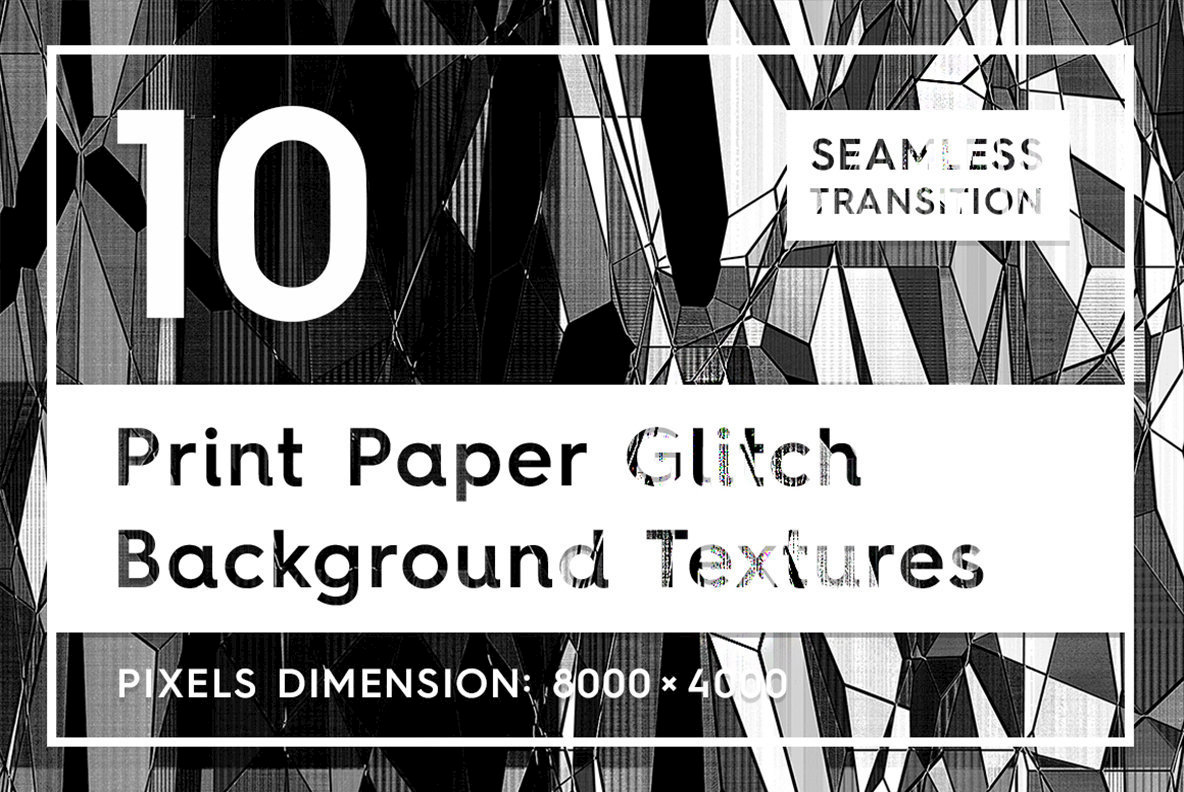 10 Print Paper Glitch Backgrounds