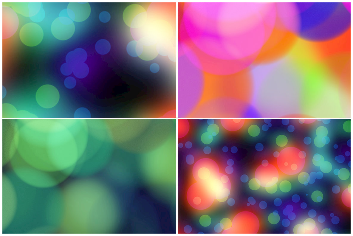 10 Blurred Bokeh Background Textures