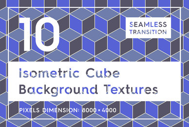 10 Isometric 3D Cubes Backgrounds