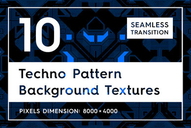 10 Techno Pattern Backgrounds