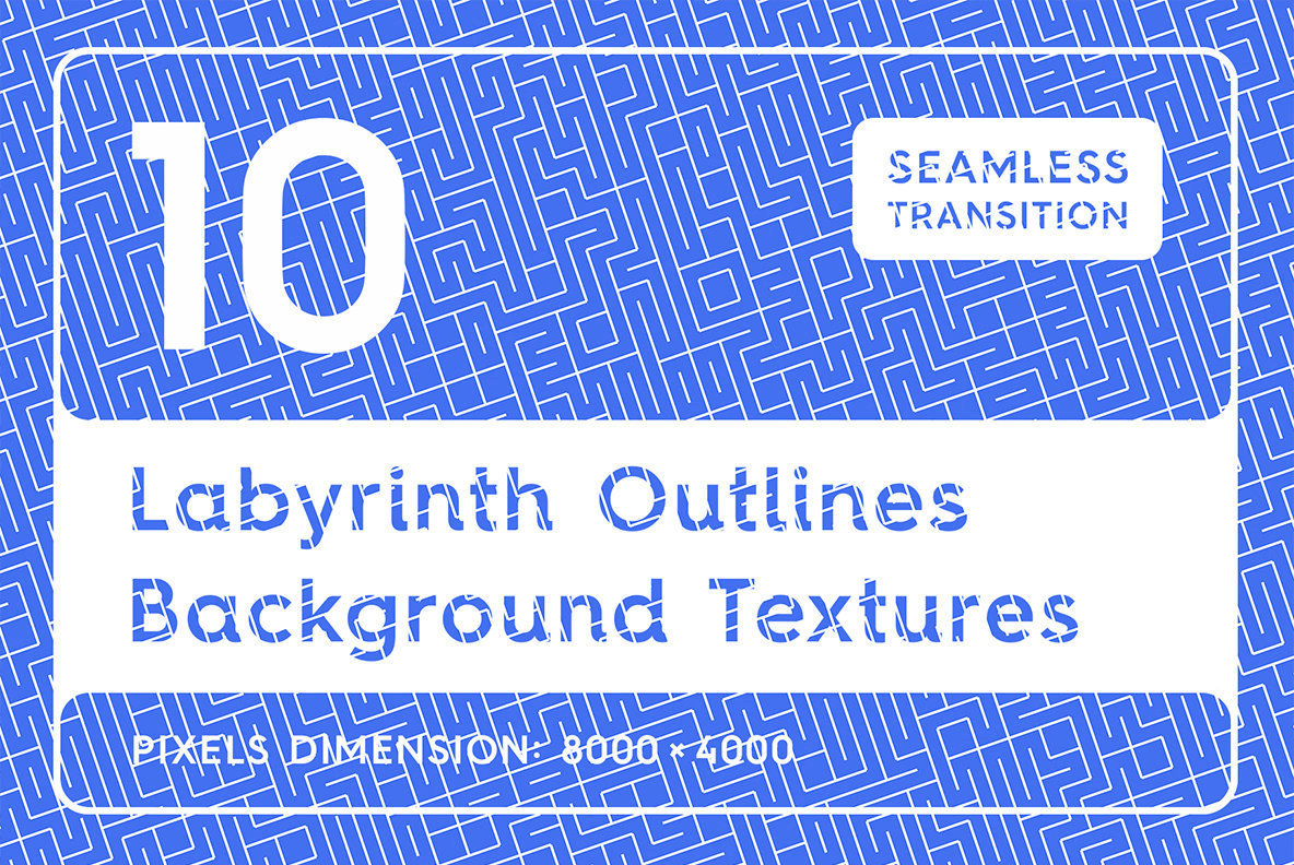 10 Labyrinth Outlines Backgrounds