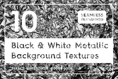 10 Black  White Metallic Textures