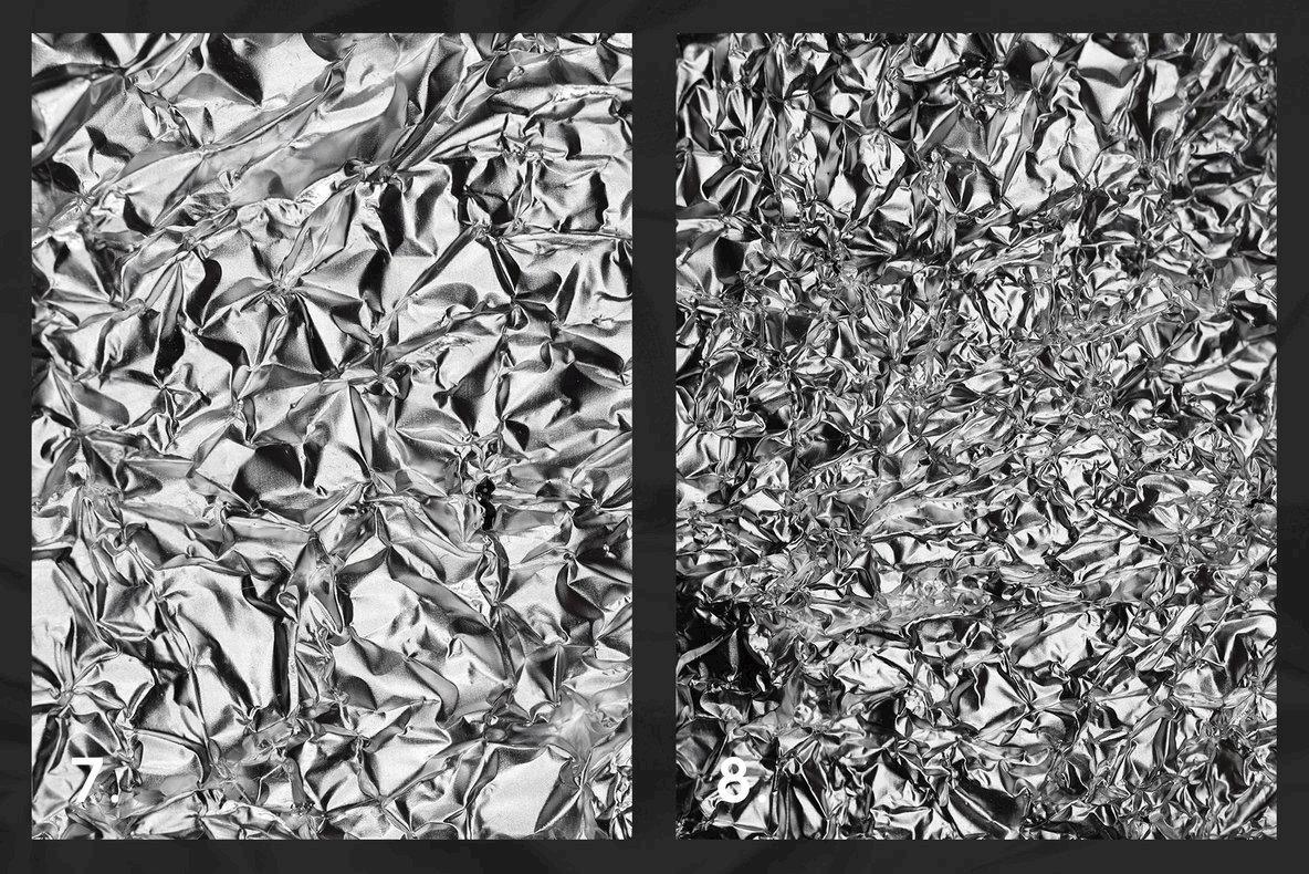 10 Black   White Metallic Textures