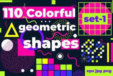 110 Colorful Geometric Shapes