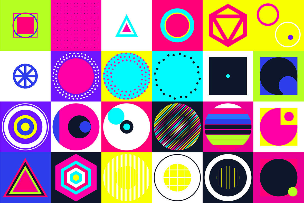 110 Colorful Geometric Shapes
