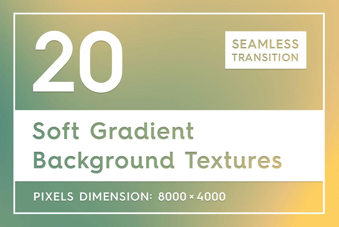20 Soft Gradient Background Textures