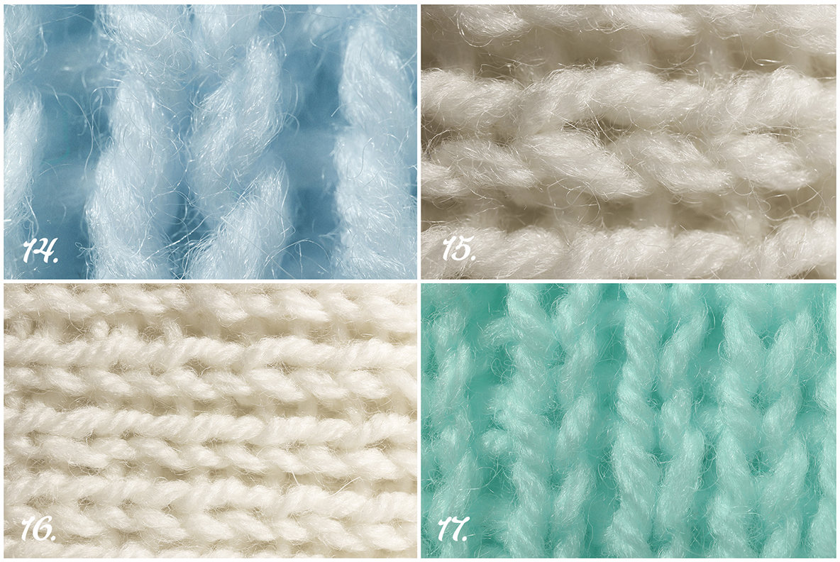 17 Wool Knitting Background Textures