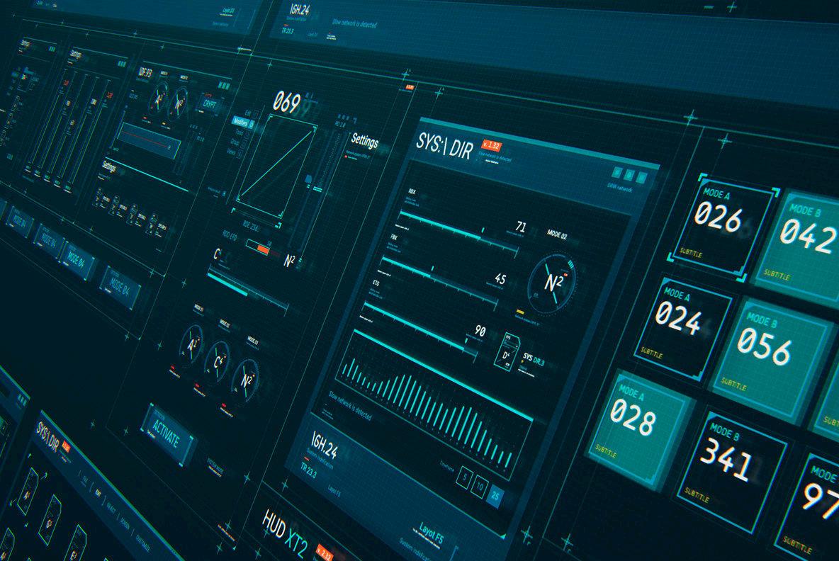 Futuristic HUD Interface UI XT2