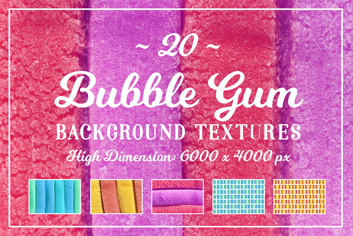 20 Bubble Gum Background Textures