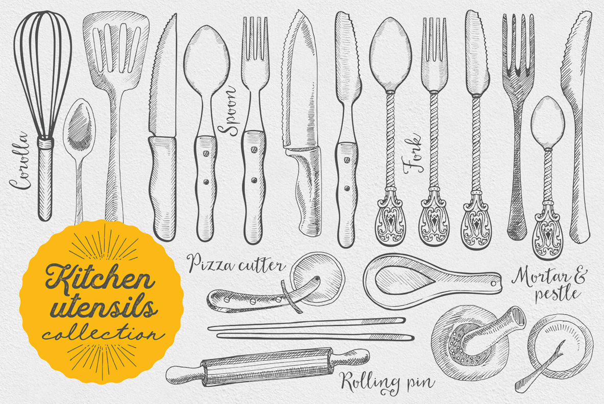 Kitchen Utensils Illustration