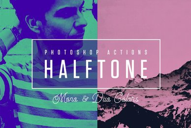 Halftone Mono  Duo Colors