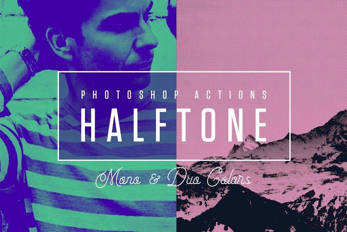 Halftone Mono   Duo Colors