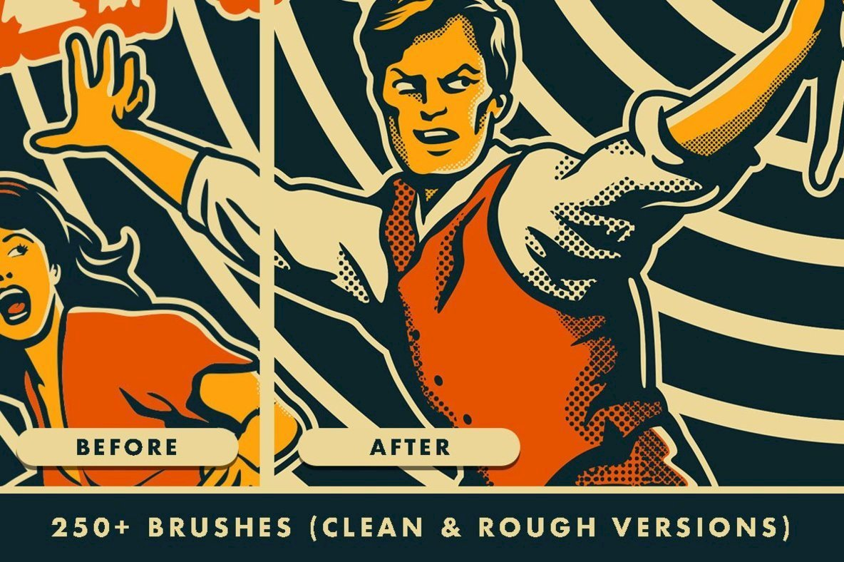 Horrific Halftones Photoshop Brushes