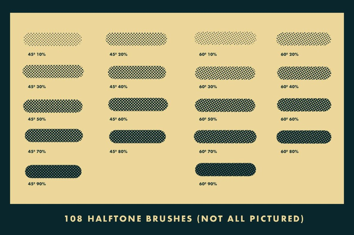 Horrific Halftones Photoshop Brushes