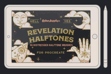 Revelation Halftones   Distressed Halftone Brushes for Procreate