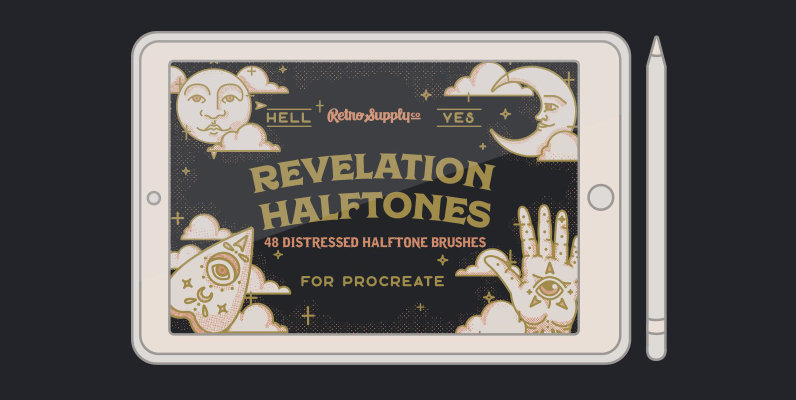 Revelation Halftones   Distressed Halftone Brushes for Procreate