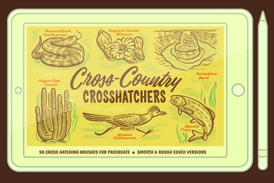 Cross Country Cross Hatchers Brushes for Procreate