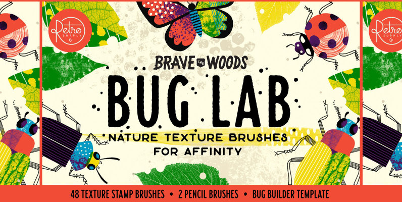 Bug Lab   Nature Texture Brushes for Affinity
