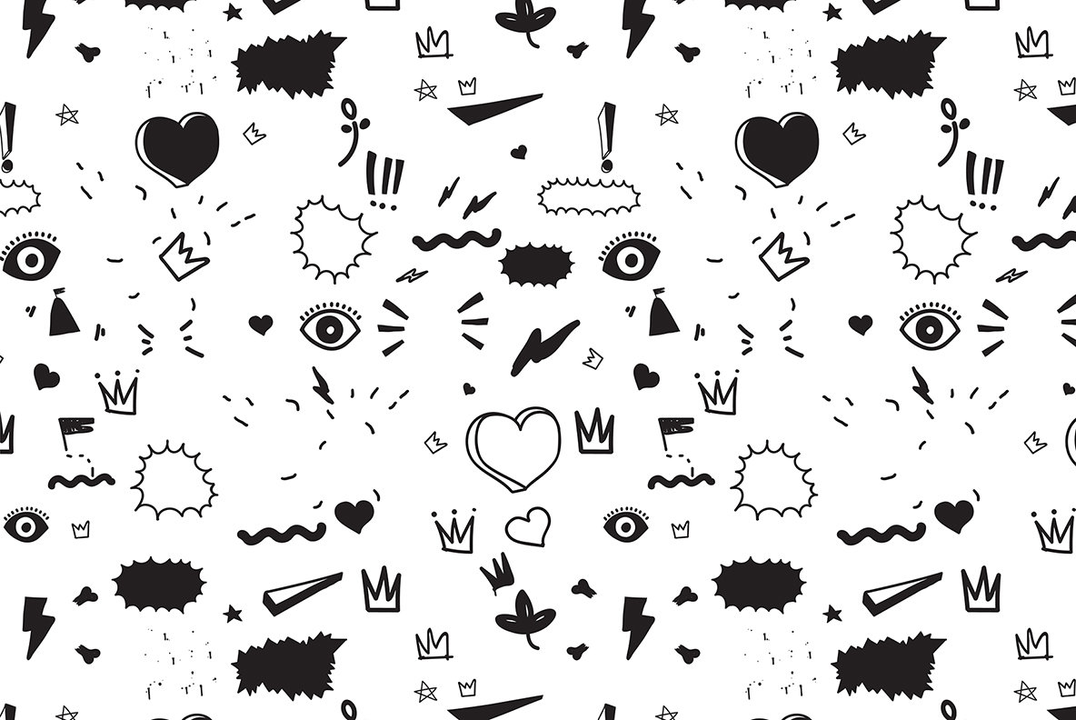 170 Doodles  Elements and Patterns