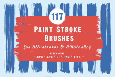 117 Paint Stroke Brushes for Illustrator  Photoshop