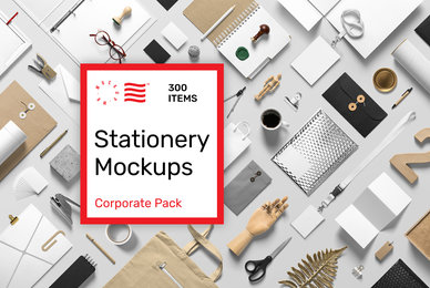 Stationery PSD Mockups   Corporate Pack