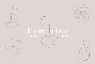 Feminine Line Drawing Logo Kit