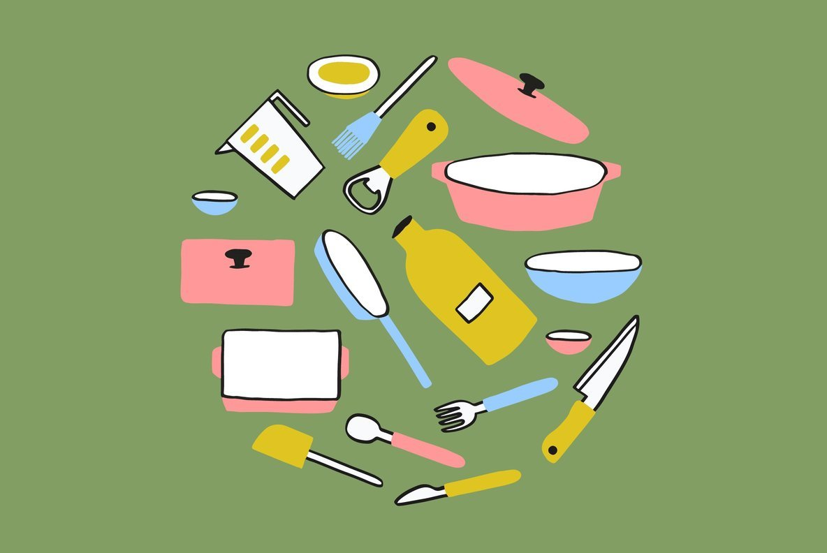 Kitchenware Graphics and Patterns