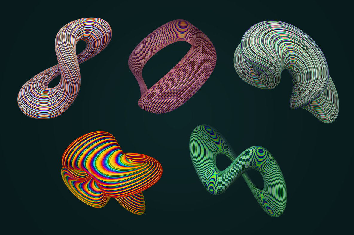 Coiled   Twisting 3D Shapes