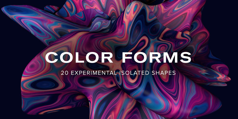 Color Forms   20 Experimental Isolated Shapes