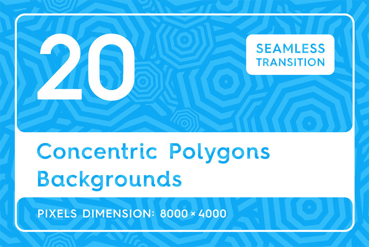 20 Concentric Polygons Backgrounds