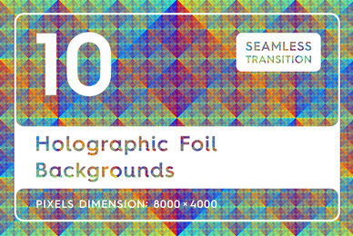 10 Holographic Foil Backgrounds