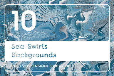 10 Sea Swirls Backgrounds Textures
